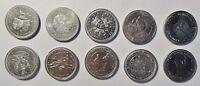 10 versch SONDER-Münzen England /GB/UK Queen Elizabeth II stgl-PP / Kapsel (1639