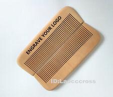 Handmade Natural fine tooth Peach wood comb no-static massage hair beard comb