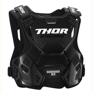 Thor Guardian Motocross MX OffRoad Race Chest Protector Body Armour Black Adults