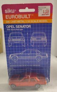 Siku Eurobuilt Diecast Car Opel Senator 3.0 Maroon 1:55 Scale Made in Germany