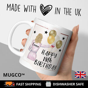 Personalised Birthday 18th Mug Gift Soul Sisters Friends Mum Daughter Her Work