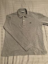 Lacoste Light Grey Size 3 Small Polo Long Sleeve Mens