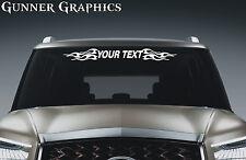 Hummer H2 H3 custom windshield decal graphic flames skulls