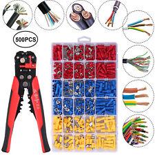 Crimp Tool Kit Crimping Wire Stripper Plier Tools With 500pcs Crimp Connectors Set
