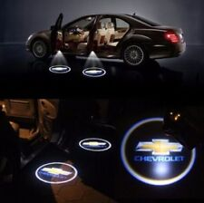 2× Wireless Car Door LED Welcome Projector Light Shadow Lamp For Chevrolet Logo