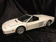 1990 Ferrari Testarossa Spyder white 1/8 scale model by Pocher