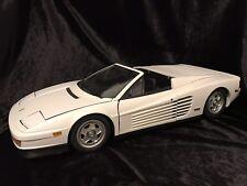1990 Ferrari Testarossa Spyder white 1/8 scale model by Pocher