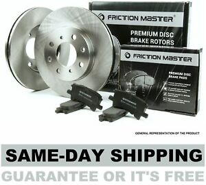 Friction Master Rear Brake Kit - Set of 2 Rotors and 4 Metallic Pads BK1808m