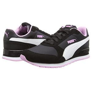 PUMA St Runner V2 NL Softfoam Black Pink Ladies Shoes Sports Running Trainers