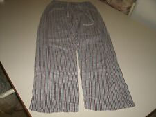 Esprit ladies gray striped sleep lounge pants size small