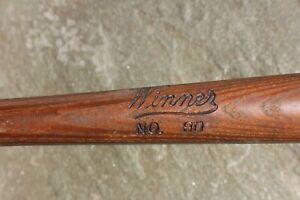 "Vintage Louisville Slugger ""Winner"" No.90 Baseball Bat c. 1930's Regulation"