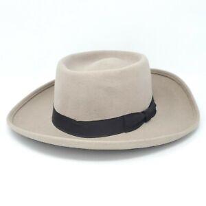 VTG Golden Gate Hat Company New Orleans Wool Felt Banded Men's Medium 6 5/8 USA