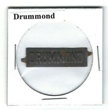 Drummond Chewing Tobacco Tag D350 Embossed