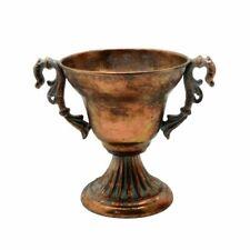 Brocante Fluted Filigree Metal Bowl x 18cm - Antique Gold - Flower Plant Urn