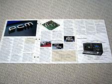 MAKE OFFER - Technics SV-P100 digital audio VHS cassette deck brochure