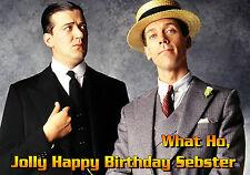 Jeeves y Wooster Stephen Fry & Hugh Laurie Personalizado Cumpleaños Tarjeta De Arte