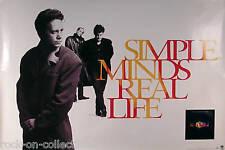 Simple Minds 1991 Real Life Original Promo Poster