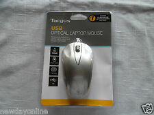 NEW Targus 3-Button USB Optical Laptop Mouse Scroll-Wheel BUS0213 AMU51US PC/Mac