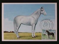 MONACO MK 1970 PFERDE PFERD HORSE CHEVAL MAXIMUMKARTE MAXIMUM CARD MC CM c7139