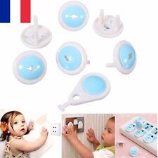 6 X Protection de Sécurité Enfant Bébé Cache Prise électrique Rotation Verrou