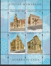 Azerbaijan Aserbaidschan MNH** 2019 Mi.1441-44 Bl.221 Architecture JI Polen