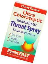 Ultra Chloraseptic Throat Spray Cherry 15ml Numbing Spray FAST FREE DELIVERY