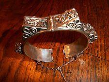 Ancien large bracelet argent massif Maghreb Ethnique
