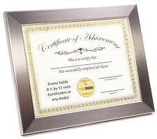 CreativePF [11x14ss-w] Stainless Steel Document Frame Displays 8.5 by 11-inch wi