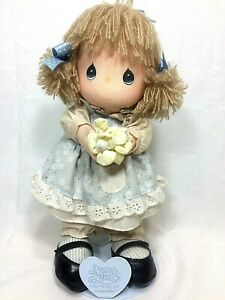 """Precious Moments Vintage 1986 Friendship Line Doll with Stand- 11"""" Tall- 16010"""