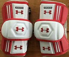 Under Armour Player Arm Pad, Red White Size Lg
