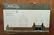 Department 56 Williamsburg Church Fence - Set of 4 out of 5 (Gate Missing) 2010