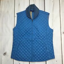 J. McLaughlin Zip Up Vest Equestrian Quilted Blue Size Small