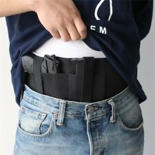Military Airsoft CS Pistol Belly Band Waist Belt Gun Holster w/ Dual Mag Pouch