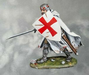 Infantryman Knight Templar PAINTED. Tin Soldiers 54mm 1/32