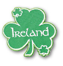 Irish Green Shamrock Ireland Embroidered Sew-on Cloth Badge Patch Appliqué