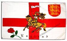 Drapeau Angleterre avec Chevalier anglais 90x150cm drapeaux Qualité Top