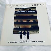 JOHN PAUL JONES Music From Scream For Help 801901 SRC LP Vinyl VG++