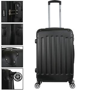 AREBOS Eco Hard Shell Suitcase à Roulettes Valise de Voyage L Noir
