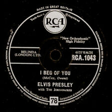 "ELVIS PRESLEY ""The King""  I beg of you/ Don't   R&R Schellackplatte  78rpm S1842"