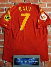 Raúl España Euro 2004 XL para hombres Hogar Camiseta De Fútbol Copa Mundial de Jersey de estilo vintage y retro