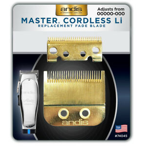 Andis Master Cordless Li Replacement Fade Blade #74045 – 24K Gold
