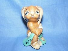 Pendelfin Stoneware Rabbit Totty Turquoise Burnley England