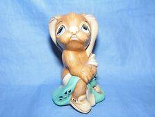 Pendelfin Stoneware Rabbit Totty Turquoise Burnley England