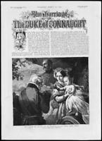 1879 - Antique Print ROYALTY Marriage Duke Connaught Wellington Godson   (190)