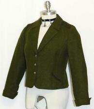 GREEN ~ WOOL German Women Winter Hunting Riding Dress Suit JACKET Coat / 4 6 S
