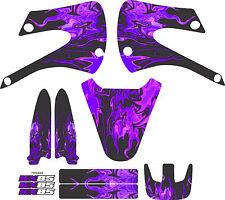 Kawaskai Kx85 kx 85 Graphic Kit 01-12 Flames Purple  Graphics Decal Sticker MX