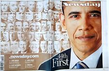 NEWSDAY Jan. 20 2009 President Obama Collector's Sold Out Issue 44th and First