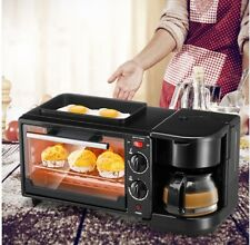 3 in 1 Breakfast Machine Multifunctional Oven Non‑Stick Grill for Afternoon Tea