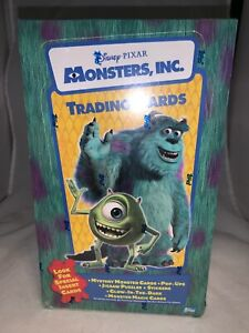 Disney Pixar Monsters, Inc. Trading Cards Sealed Package of 24 Packs-New