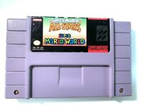 Super Mario All-Stars + Super Mario World - SNES Nintendo Game Authentic Tested!